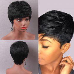 Short Pixie Cut Side Bang Straight Human Hair Wig