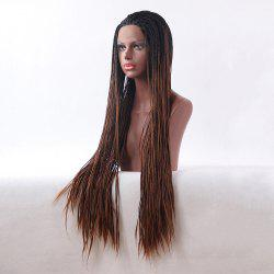 Ultra Long Box Braids Ombre Lace Synthetic Wig