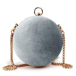 Velvet Ball Shaped Across Body Bag