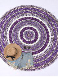 Round Floral Print Beach Cover Throw