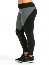 Colorblock Plus Size Workout Leggings