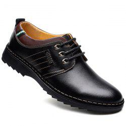 Stitching Colour Block Formal Shoes