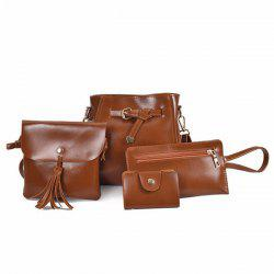 4 Pieces Faux Leather Crossbody Bag Set