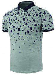 Geometric Print Slim Fit Polo Shirt