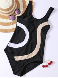 Panel Padded One Piece Swimwear