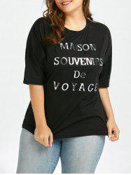 Letter Graphic Plus Size Boyfriend T-Shirt