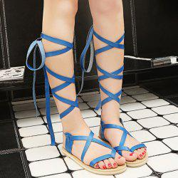 Strappy Lace Up Sandals