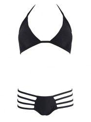 Halter Cut Out String Bikini Set