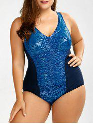 Plus Size Backless One-Piece Swimsuit -