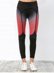 Fishnet Print Elastic Running Leggings