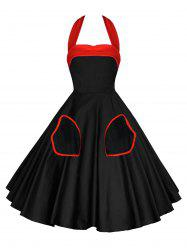 Robe Pin-Up Dos-Nu Style Vintage -
