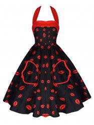 Vintage Halter Pin Up Dress -