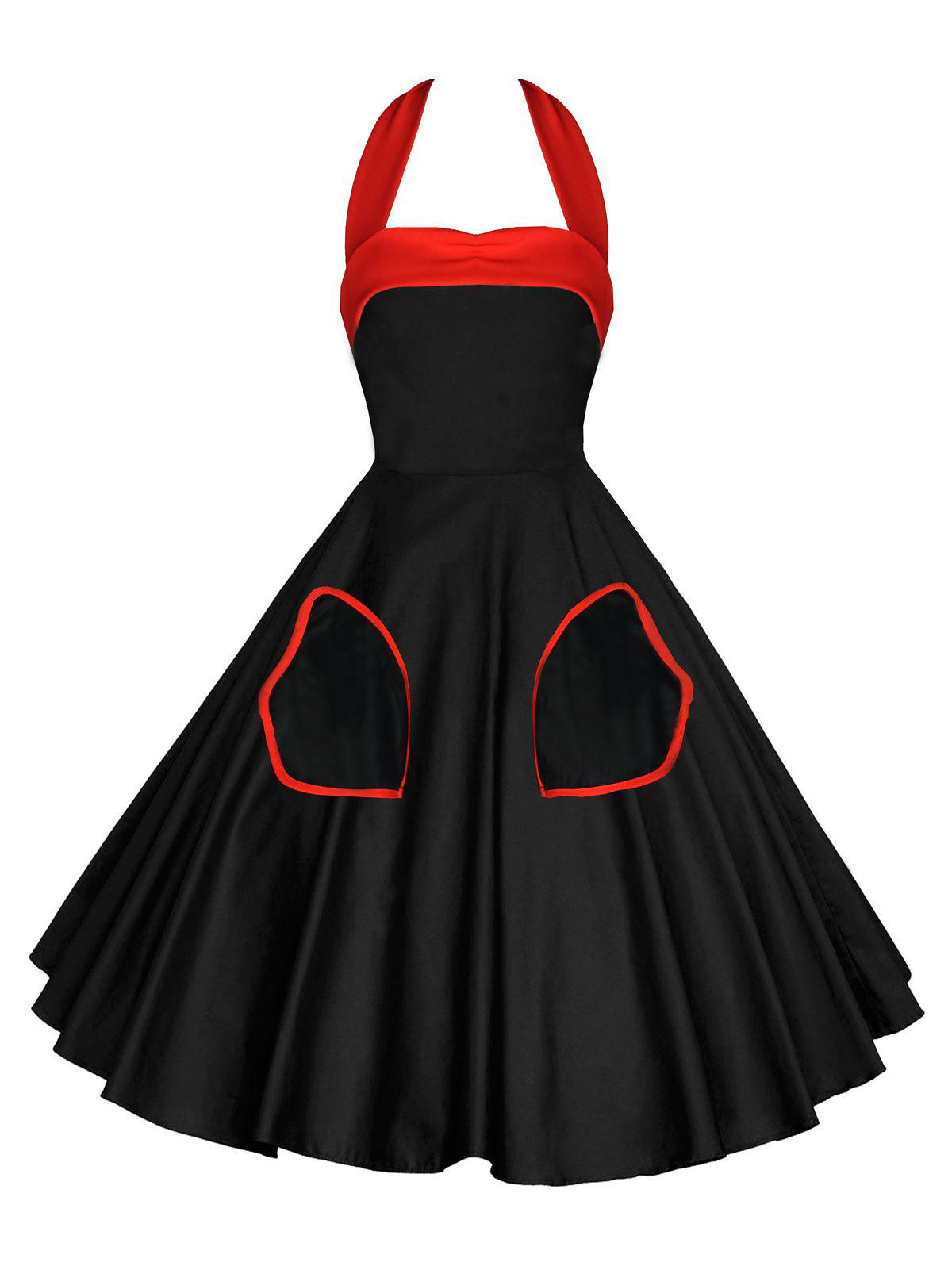 Robe Pin-Up Dos-Nu Style Vintage