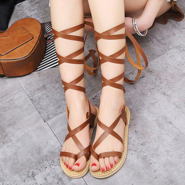 Cheap Strappy Lace Up Sandals