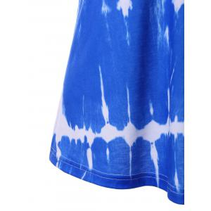 Spaghetti Strap Lace Panel Tie Dye Top -