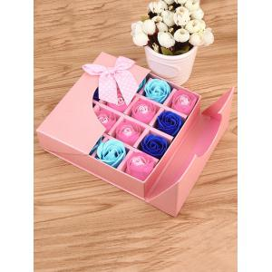 1 Box 16 Grids Bowknot Artificial Soap Roses Mother's Day Gift