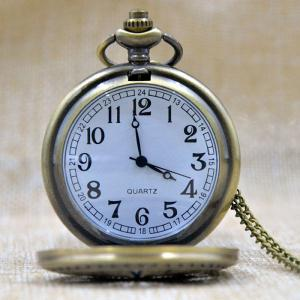 Magic Star Engraved Vintage Quartz Pocket Watch - GOLDEN