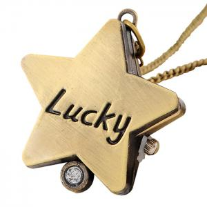 Lucky Star Vintage Analog Montre de poche