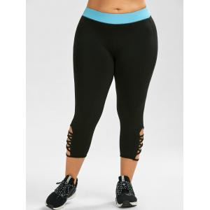 Plus Size active Criss Cross Capri Leggings -