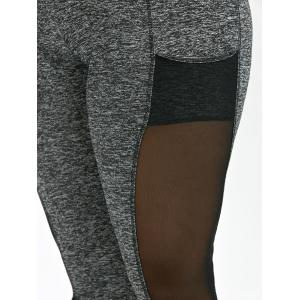Mesh Insert Plus Size Workout Leggings With Pockets -
