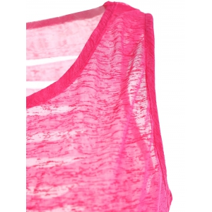 Cut Out Distressed Racerback Tank -