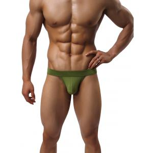 Plain Low Rise String Briefs