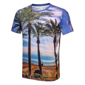 Beach Sky Palm Tree Print T-Shirt