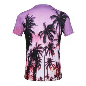 Palm Tree 3D Print Hawaiian T-Shirt - COLORMIX 3XL