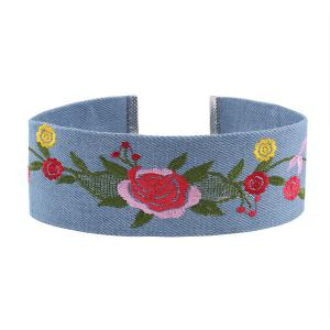 Embroidery Flower Choker Necklace