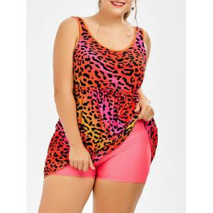 Plus Size Tank Leopard One Piece Swimsuit