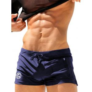 Stretchy Lace Up Zip Up Pocket Swimming Trunks