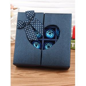 1 Box 16 Grids Bowknot Artificial Soap Roses Mother's Day Gift - ROYAL