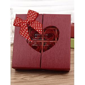 1 Box 16 Grids Bowknot Artificial Soap Roses Mother's Day Gift - BRIGHT RED