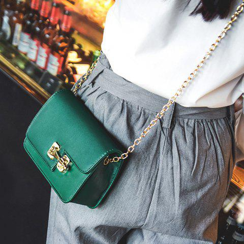 Buy Metal Detail Mini Cross Body Bag - GREEN  Mobile