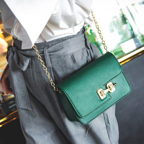 Fancy Metal Detail Mini Cross Body Bag - GREEN  Mobile