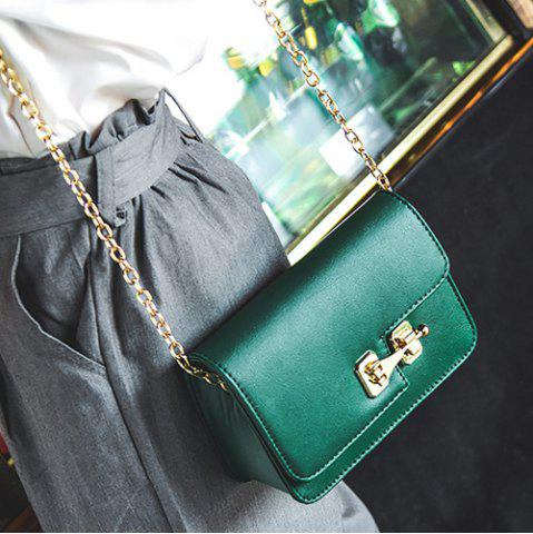 Outfit Metal Detail Mini Cross Body Bag - GREEN  Mobile