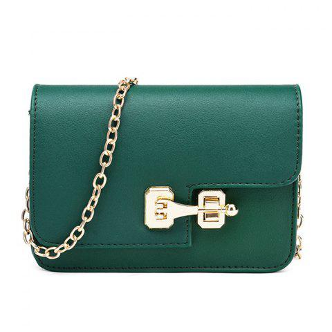 Cheap Metal Detail Mini Cross Body Bag - GREEN  Mobile