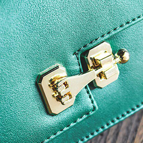New Metal Detail Mini Cross Body Bag - GREEN  Mobile