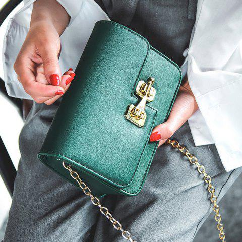 Fashion Metal Detail Mini Cross Body Bag - GREEN  Mobile