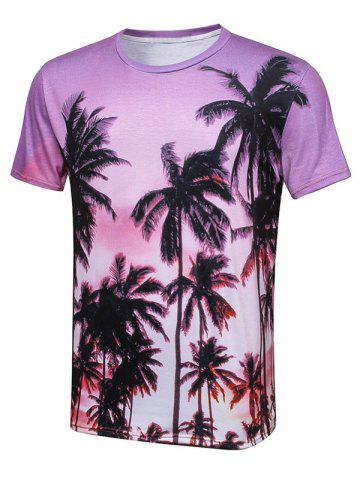 Outfit Palm Tree 3D Print Hawaiian T-Shirt COLORMIX 3XL
