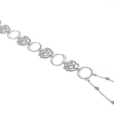 Hot Flower Rose Body Chain - SILVER  Mobile