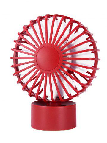 Portable Mini Cooler super Mute Bureau Ventilateur Rouge