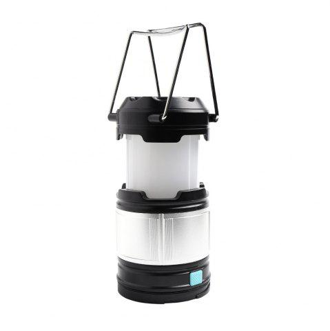 Shops 4 Modes Collapsible Rechargeable LED Camping Lantern - SILVER AND BLACK  Mobile