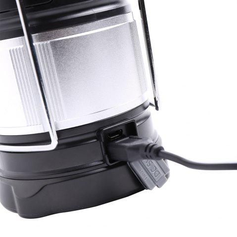 New 4 Modes Collapsible Rechargeable LED Camping Lantern - SILVER AND BLACK  Mobile