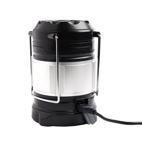 Hot 4 Modes Collapsible Rechargeable LED Camping Lantern - SILVER AND BLACK  Mobile