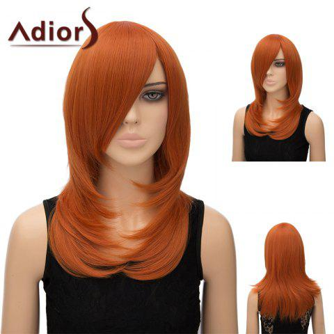 Shop Adiors Inclined Bang Long Tail Adduction Straight Cosplay Anime Wig - PEARL KUMQUAT  Mobile