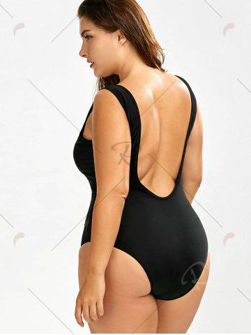 Buy Plus Size Backless Swimwear - 2XL BLACK Mobile