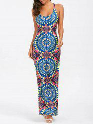 High Slit Backless Maxi Dress