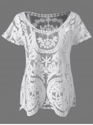 Lace See Through Blouse -