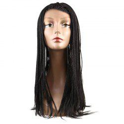 Lace Front Long Micro Box Braids Synthetic Wig